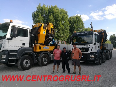 4th EFFER crane delivered to the customer Torremontaggi